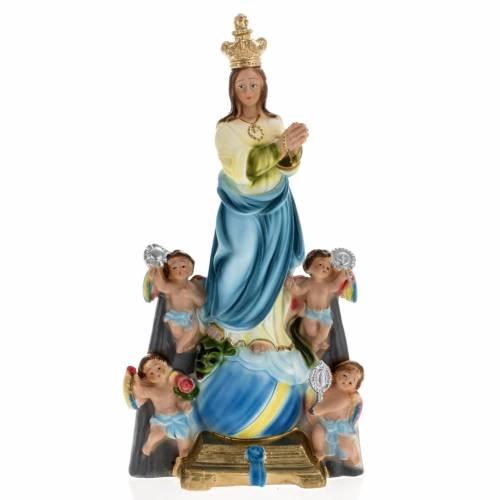 Statua Madonna degli Angeli 30 cm gesso s1