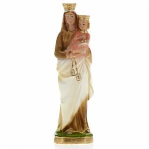 Statua Madonna del Carmelo gesso 20 cm s1