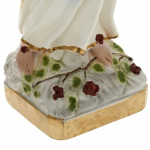 Statua Madonna di Lourdes 40 cm gesso s3