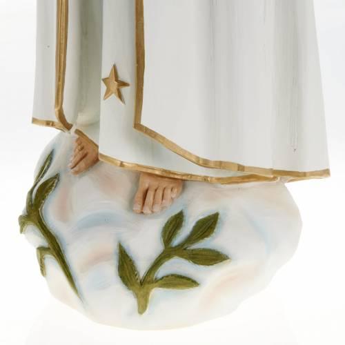 Statua Madonna Fatima 60 cm polvere di marmo dipinta s3