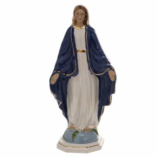 Statua Madonna Miracolosa 18,5 cm ceramica s1