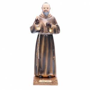 Statua Padre Pio 32,5 cm Resina colorata s1