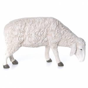 Animali presepe: Statua pecora che bruca Martino Landi per presepe 120 cm