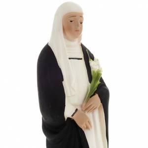 Statua S. Caterina gesso 20 cm s2