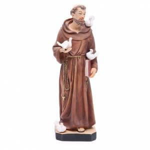 Statue in resina e PVC: Statua San Francesco 30 cm resina colorata