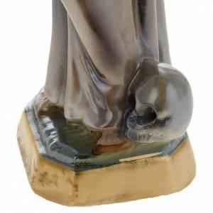 Statua San Francesco d'Assisi gesso 20 cm s3