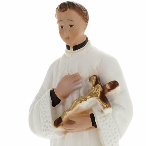 Statua San Luigi gesso 20 cm s2