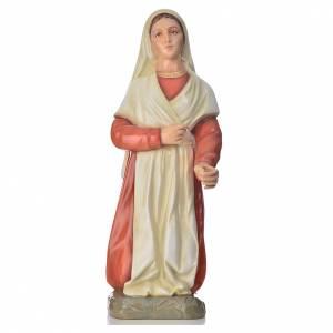 Statue in polvere di marmo di Carrara: Statua Santa Bernadette 67 cm marmo colorato