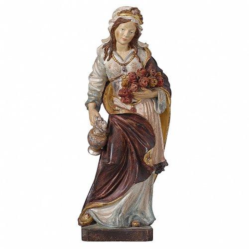 Santa Elisabetta oro zecchino antico legno acero Valgardena s1