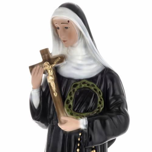 Statua Santa Rita 60 cm gesso s4