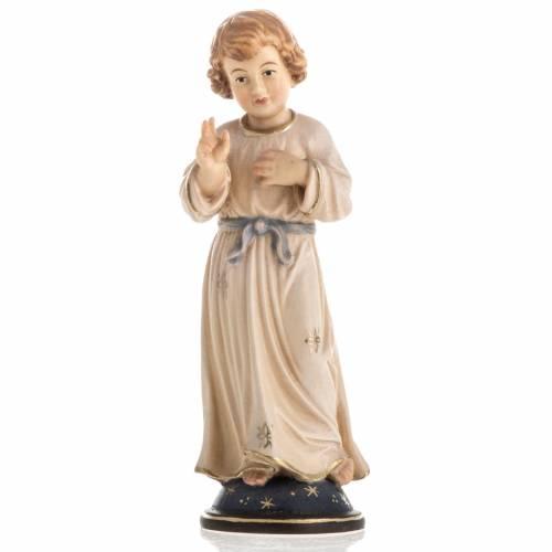 Statue bois Jésus adolescent peinte s1