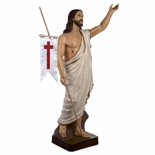 Statue Christ Ressuscité marbre 85cm peinte 7