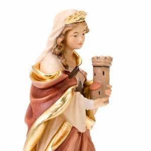 Statuen aus gemalten Holz: Statue Heilige Barbara Holz