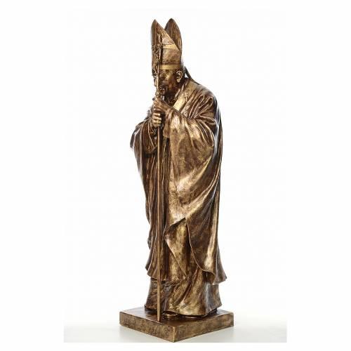 Statue Jean-Paul II fibre de verre couleur bronze 140cm Landi s2