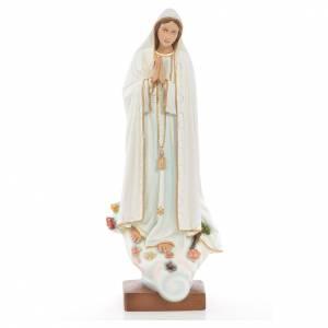 Statue Notre Dame de Fatima marbre reconstitué 60cm peinte s1