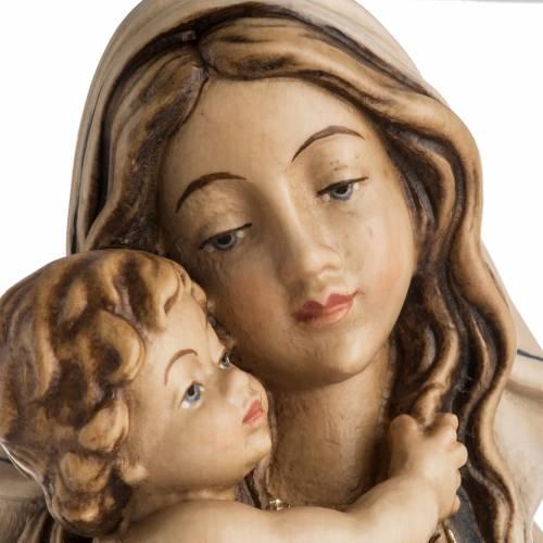 Statue Notre Dame de la paix peinte bois Val Gardena s8