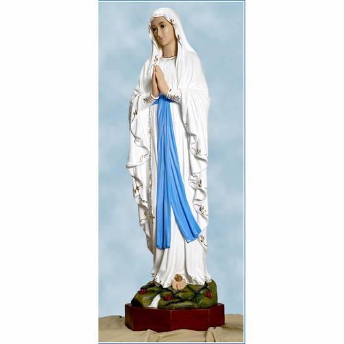 Statue Notre-Dame de Lourdes fibre de verre 110cm Landi s1