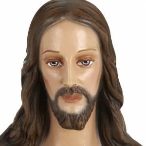 Statue Sacré coeur de Jésus 80 cm fibre de verre s6