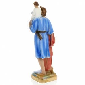 Statue Saint Christophe plâtre 30 cm s4