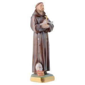 Statue Saint François plâtre perlé 30cm s3