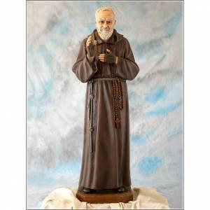 Statue Saint Pio de Pietrelcina fibre de verre 100cm Landi s1