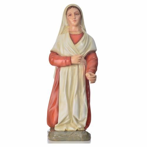 Statue Sainte Bernadette marbre 67cm peinte s1