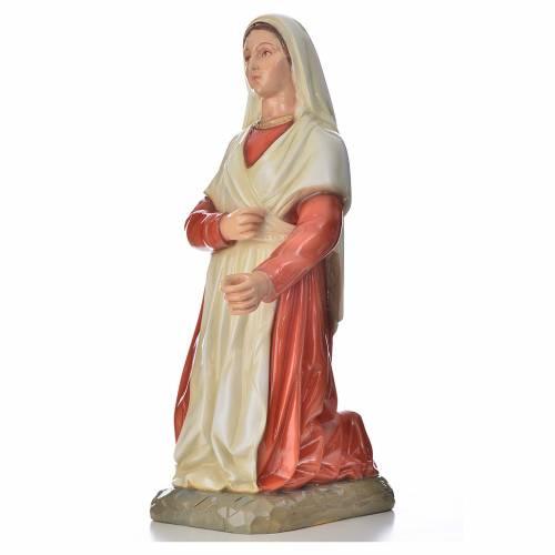Statue Sainte Bernadette marbre 67cm peinte s2