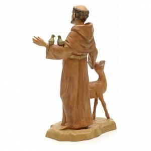 Statue St François et les animaux 18 cm Fontanini s3