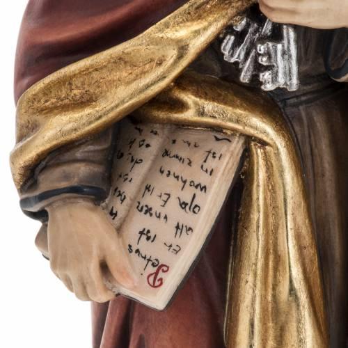 Statue St Pierre avec les clés 31 cm bois peint s4