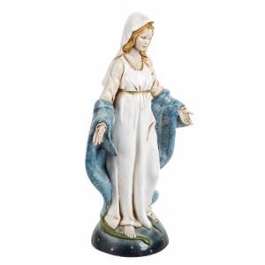 Statuen aus Harz und PVC: Statue Unefleckte Jungfrau Maria 30cm Porzellan Finish, Fontanin