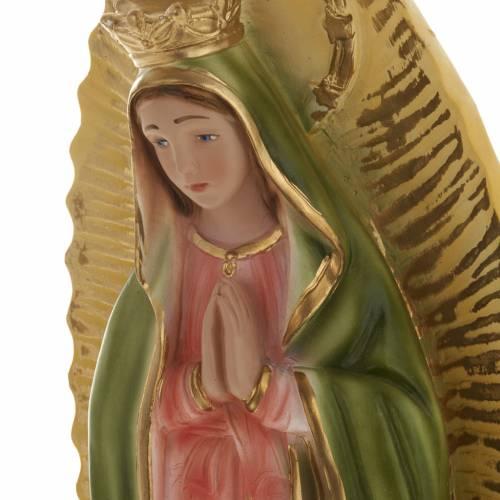 Statue Vierge de Guadalupe plâtre 40 cm s2