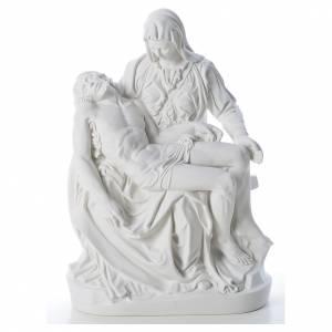 Statues en marbre reconstitué: Statue Vierge de Pitié marbre blanc