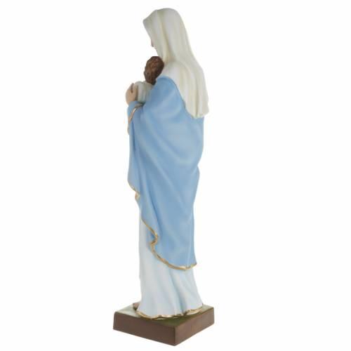 Statue Vierge et enfant 80 cm fibre de verre s6