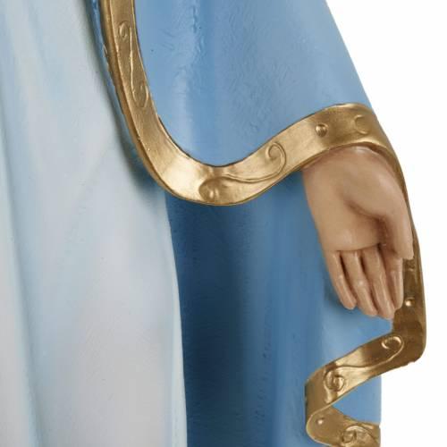 Statue Vierge Miraculeuse manteau bleu 60 cm fibre de verre s3