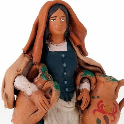 Donna con anfore terracotta 18 cm s3