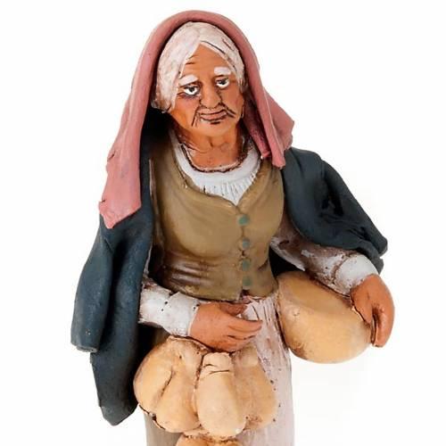 Donna con formaggio in terracotta 18 cm s3