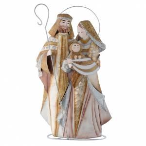 Stilisierte Krippe: Stilisierte Heilige Familie Metall