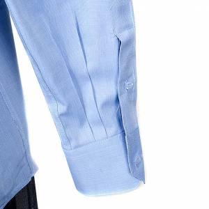Chemises Clergyman: STOCK Chemise m.longues fil fil bleu claire