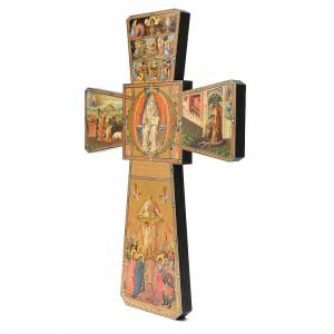 STOCK Cross God the Father in wood 70x50cm s2