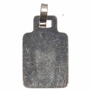 STOCK Médaille Sainte Famille métal nickelé émail rouge 20 mm s3