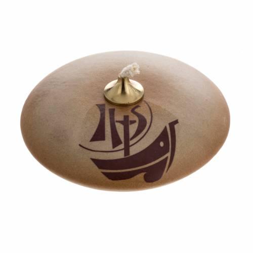 STOCK oil lamp, sand ceramic, Year of Faith s1