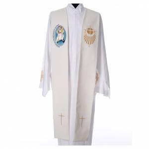 Priesterstolen: STOCK Stola Jubilaeum der Barmherzigkeit LATEIN mit Stickerei