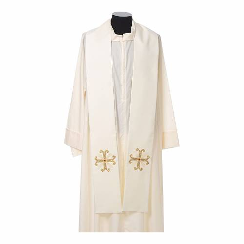 Stola sacerdotale croce con perlina vetro s4