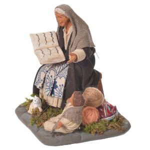 Storyteller with young boy, Neapolitan Nativity 10cm s2