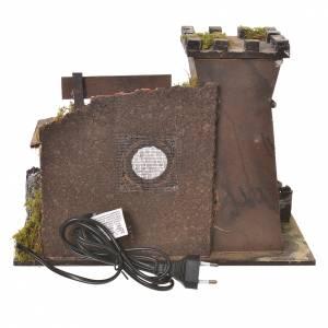 Taberna belén con horno efecto llama 24.5x33x18cm s4