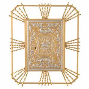 Tabernacle à accrocher avec rayons Agneau et lunule s1