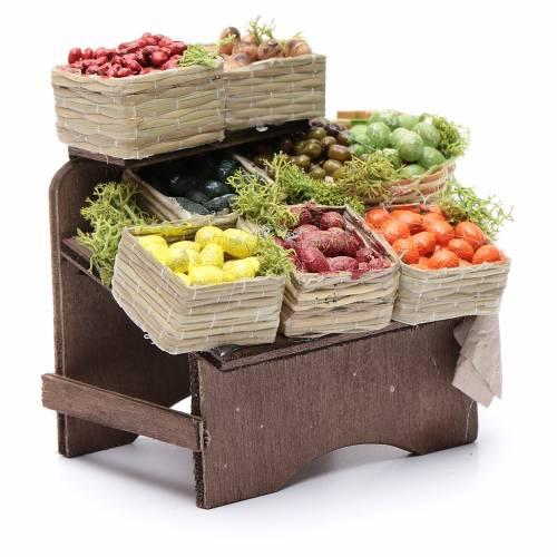 Table avec caisses de fruits crèche napolitaine s3