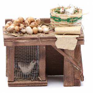 Neapolitan Nativity Scene: Table cage with chicken and eggs 9x8x5,5cm neapolitan Nativity