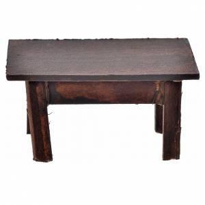 Table en miniature crèche Napolitaine 3,5x7,5x4 cm s2