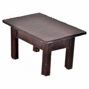 Table en miniature crèche Napolitaine 3,5x7,5x4 cm s1